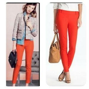 Jcrew Minnie stretch pants in vibrant orange